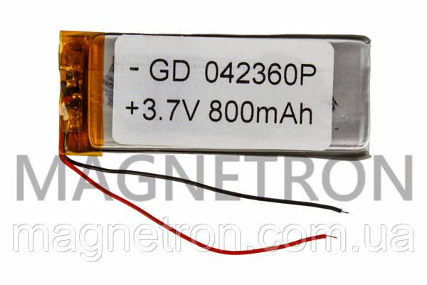Аккумулятор литий-полимерный GD 042360P 3,7V 800 mAh 22x58mm, фото 2