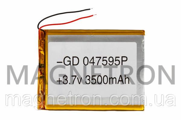 Аккумулятор литий-полимерный GD 047595P 3,7V 3500 mAh 73x95mm, фото 2
