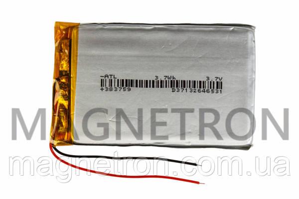 Аккумулятор литий-полимерный GD 043759P 3,7V 900 mAh 36x59mm, фото 2