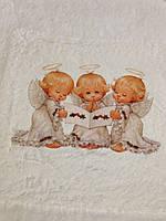 Детская крыжма с ангелочками