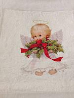 Детское одеялко-крыжма с ангелочками