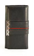 Кожаный черный мягкий женский кошелек SALFEITE art. 12248