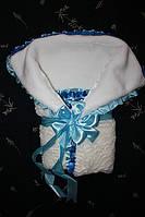 Конверт для новорожденного мальчика зимний