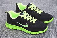 Кроссовки Nike Free Run green black 36//38//41