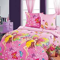 Постельное белье для детей, Красотки бязь (хлопок 100%), подростковое полуторное постельное белье