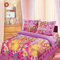 Постельное белье для детей, Красавицы бязь (хлопок 100%), подростковое полуторное постельное белье