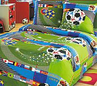 Постельное белье для детей, Чемпионат бязь (хлопок 100%), подростковое полуторное постельное белье