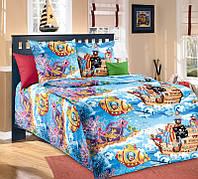 Постельное белье для детей, Пираты бязь (хлопок 100%), подростковое полуторное постельное белье