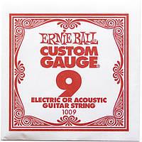 Струна Ernie Ball 1009 Plain Steel .009 (акустика\электро)