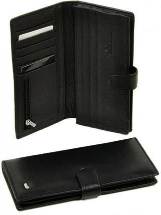 Модное мужское портмоне из кожи dr.Bond M47 black, черное