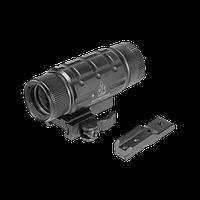 Увеличитель для коллиматора UTG 3X 1х25 с быстросъемным-откидным кронштейном на Picatinny и адаптером