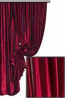 Ткань   Бархат однотонный бордо