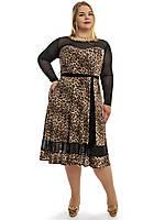 Модное женское платье больших размеров,модель ДК 701