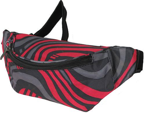 Поясная сумка Loren WB-01 красный с серым