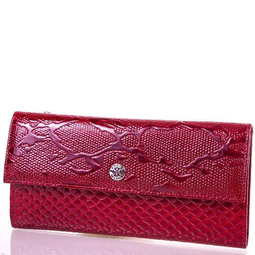 Женский кожаный кошелек KARYA (КАРИЯ) SHI1142-1LAK Красный