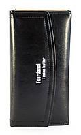 Черный лаковый вертикальный женский кошелек FUERDANNI art. 88A57