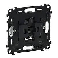 Legrand Valena IN'MATIC Выключатель 6А 250В кнопочный, автоматические клеммы (752011)