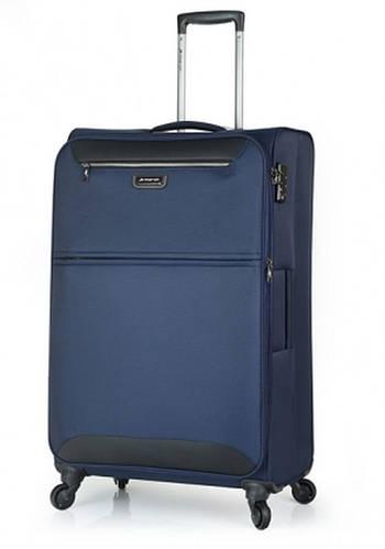 Тканевый чемодан-гигант 4-колесный из полиэстера 104/117 л. March Flybird 2451/04 синий