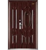 Двери входные F-722 металлические,двустворчатые