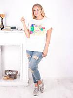 Нежная легкая футболка-туника №1598