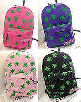 Стильный школьный рюкзак в листьях