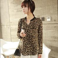Рубашка (блузка) женская леопардовая