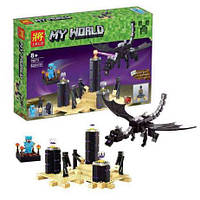 """Конструктор для мальчиков  LELE 79073 My World """"Дракон"""" - аналог """"Minecraft"""" Майнкрафт, 634 детали YNA/05-12"""