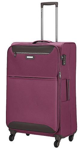Качественный дорожный 4-колесный чемодан средний 69/80 л. March Flybird 2452/22 фиолетовый