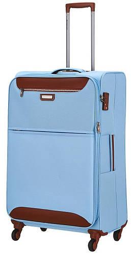 Голубой тканевый средний чемодан 4-колесный 69/80 л. March Flybird 2452/54