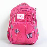 Модный школьный рюкзак среднего размера для девочки - 87-1085
