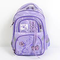 Модный школьный рюкзак среднего размера для девочки - 87-1089