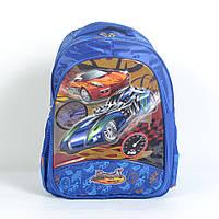 Модный мягкий школьный рюкзак для мальчика - Машины - 87-1081