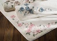 Коврик для ванной комнаты хлопок/бамбук Adney pink 40*60 белый.