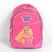 Модный мягкий школьный рюкзак для девочки - Барби - 87-1088