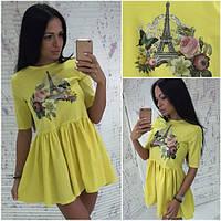 Летнее красивое платье с расклешенной юбкой (3 цвета) d-5031778