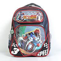 Модный школьный рюкзак для мальчика - Мотоциклист - 87-1105