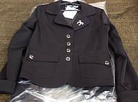Школьный пиджак для девочки (черный)