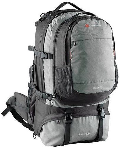 Надежный туристический рюкзак 65 л. полиэстер Caribee Jet pack 65 Storm Grey, 922327 серый