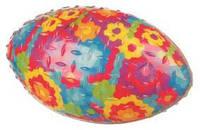 """Игрушка для собак """"Мяч регби"""" в цветочек термопластрезина д/соб. 15см"""