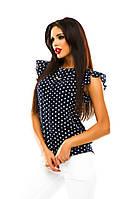 Женская шифоновая блузка с коротким рукавом   в Украине по низким ценам