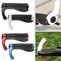 Грипсы для велосипеда с кольцами и рожками. Ручки на руль с рожками
