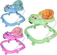 Детские ходунки JS 303 музыкальные с погремушками (3 - цвета)