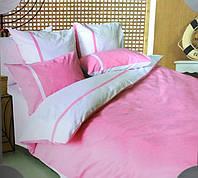 Постельное белье Евро размер ТЕП бязь/люкс - Дуэт розовый