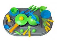 Плита с мойкой и посудой, в кор 04-411 Киндервей