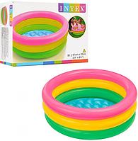 Детский надувной бассейн Intex 57402 для малышей (3 кольца)