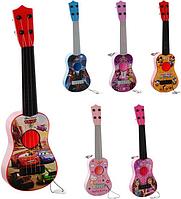 Детская струнная гитара с медиатором 367-7-8-9-12-13-16A (6 видов)