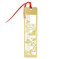 Закладка для книг Птица и дерево металл