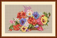 Набор для вышивания крестом Мережка К-13 Садовые цветы