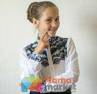 Нарядная школьная блузка Suzie Камилла цвет белый р.128