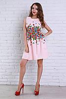 Коктельное платье в яркий принт с бабочками